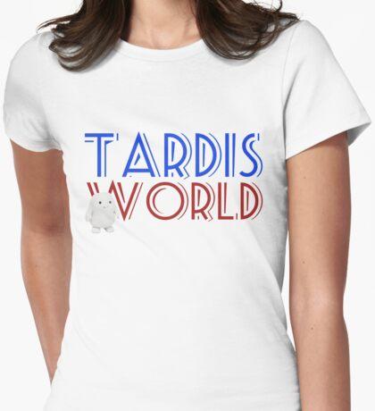 Tardis World team Womens Fitted T-Shirt