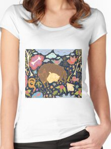 Forest Slumber Women's Fitted Scoop T-Shirt