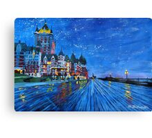 Fairmont Le Chateau Frontenac Quebec Canada By Night Canvas Print