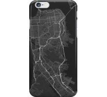 San Francisco, USA Map. (White on black) iPhone Case/Skin