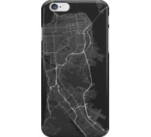 San Francisco, USA Map. (White on black) iPhone Case/Skin