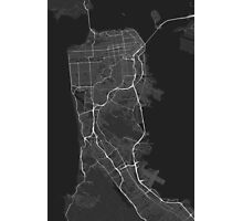 San Francisco, USA Map. (White on black) Photographic Print