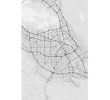 San Jose, USA Map. (Black on white) Photographic Print