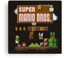 Mario Super Bros Canvas Print