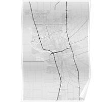 Stockton, USA Map. (Black on white) Poster