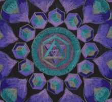 Healing With Angels and Violet Flame Mandala Sticker