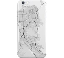 San Francisco, USA Map. (Black on white) iPhone Case/Skin