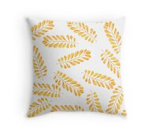 Background  with autumn leaves Throw Pillow