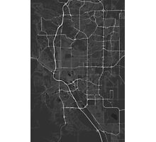 Colorado Springs, USA Map. (White on black) Photographic Print