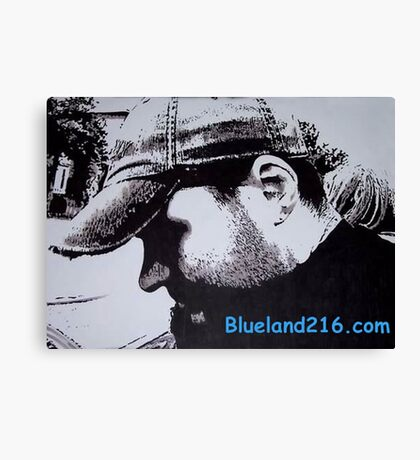 Pen and ink self portrait Canvas Print