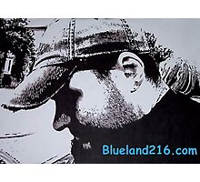 Pen and ink self portrait Photographic Print