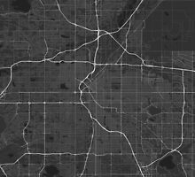 Denver, USA Map. (White on black) by Graphical-Maps