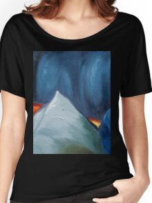 cool colors abstract painting Women's Relaxed Fit T-Shirt