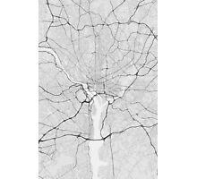 Washington, USA Map. (Black on white) Photographic Print