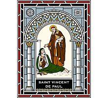 ST VINCENT DE PAUL under STAINED GLASS Photographic Print