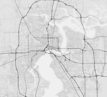 Jacksonville, USA Map. (Black on white) by Graphical-Maps