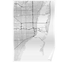 Miami, USA Map. (Black on white) Poster
