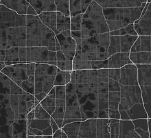 Orlando, USA Map. (White on black) by Graphical-Maps