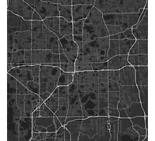 Orlando, USA Map. (White on black) Photographic Print