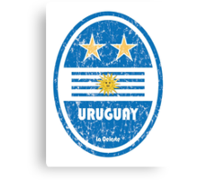 World Cup Football 4/8 - Uruguay (Distressed) Canvas Print