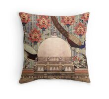 mughal monument Throw Pillow