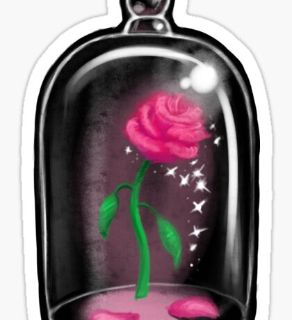 Black Rose Jar Sticker