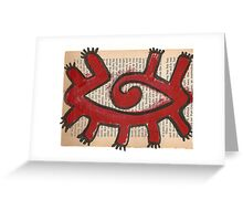 nine-legged horus eye Greeting Card