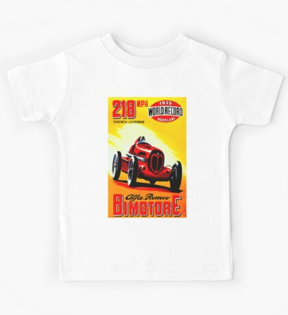 """BIMOTORE GRAND PRIX"" Vintage Auto Racing Print Kids Tee"