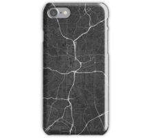 Atlanta, USA Map. (White on black) iPhone Case/Skin