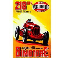"""BIMOTORE GRAND PRIX"" Vintage Auto Racing Print Photographic Print"
