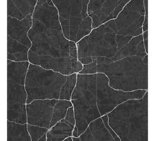 Atlanta, USA Map. (White on black) Photographic Print
