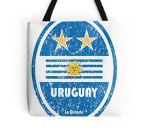World Cup Football 4/8 - Uruguay (Distressed) Tote Bag