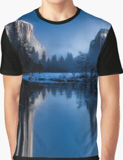 Majestic Yellowstone Mountains Graphic T-Shirt