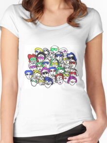 People on People (Color) Women's Fitted Scoop T-Shirt