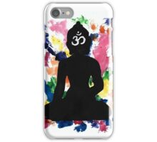 Enlightened Om Buddha Watercolor iPhone Case/Skin