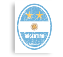 World Cup Football 5/8 - Argentina (Distressed) Canvas Print