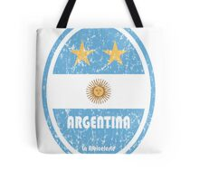 World Cup Football 5/8 - Argentina (Distressed) Tote Bag
