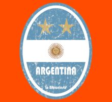 World Cup Football 5/8 - Argentina (Distressed) Kids Clothes