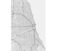 Chicago, USA Map. (Black on white) Photographic Print