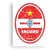 World Cup Football 6/8 - England (Distressed) Canvas Print