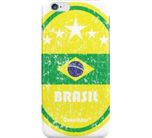 World Cup Football 1/8 - Brasil (Distressed) iPhone Case/Skin
