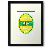 World Cup Football 1/8 - Brasil (Distressed) Framed Print