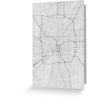 Indianapolis, USA Map. (Black on white) Greeting Card