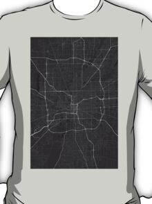 Indianapolis, USA Map. (White on black) T-Shirt