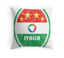 World Cup Football 2/8 - Italia (Distressed) Throw Pillow