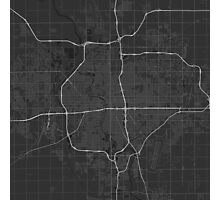 Wichita, USA Map. (White on black) Photographic Print