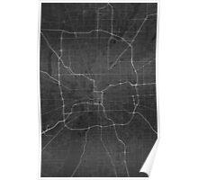 Indianapolis, USA Map. (White on black) Poster