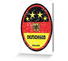 World Cup Football 3/8 - Deutschland (Distressed) Greeting Card