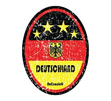 World Cup Football 3/8 - Deutschland (Distressed) Photographic Print