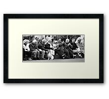 Audience and Dog Framed Print